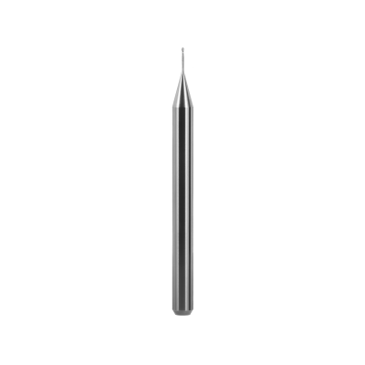 Kugelfräser, Schaft Ø 4 mm (PMMA, Thermoplast, PEEK, PEKK, Wachs, andere Kunststoffe) Ø 0,5 mm, FS 4, 2 Schneiden