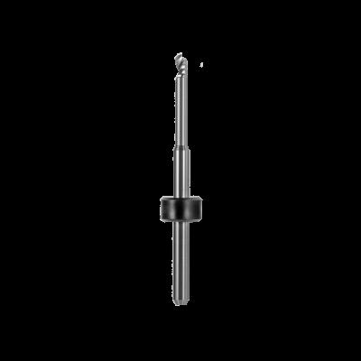 Kugelfräser, Schaft Ø 3 mm (PMMA, Thermoplast, PEEK, PEKK, Wachs, andere Kunststoffe) Ø 2,5 mm, FS 17, 1 Schneide