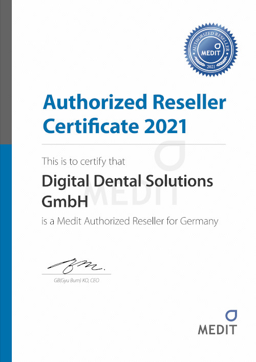MEDIT - Authorized Reseller Certificate